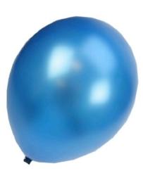 Kwaliteitsballon metallic donkerblauw 100 stuks