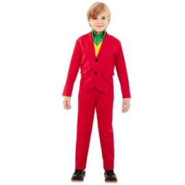 Rood kostuum jongen