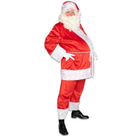 Kerstman pro katoen fluweel
