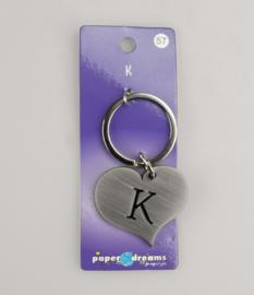 Sleutelhanger metal K