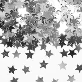 Zilveren sterren tafeldecoratie