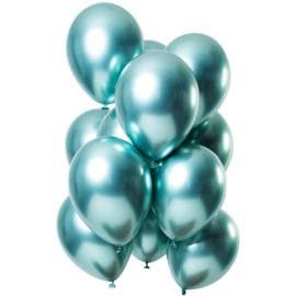 Ballonnen spiegel effect groen 10 stuks