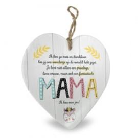 Houten hart baby,  Mama