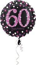 Folieballon HBD sparkling pink 60 (45cm)