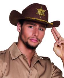 Sheriff hoed deco bruin