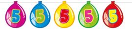 Vlaggenlijn ballonnen 5 jaar