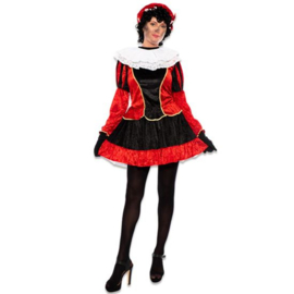 Pieten jurkje petticoat zwart rood