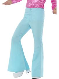 Disco 70's broek lichtblauw