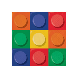 Bricks servetten 20 stuks klein
