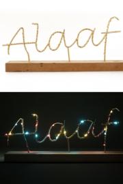 Licht plankje 36x21cm met Alaaf