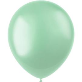Ballonnen Radiant Minty Green Metallic 33cm - 50 stuks