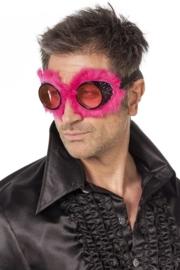 Racebril met bont pink