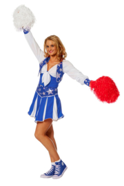 Cheerleader jurk luxe blauw