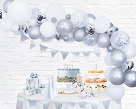 Ballonnen decoratie set luxe | zilver