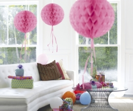 Honeycomb deco roze