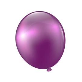 Ballonnen spiegel effect violet 100 stuks
