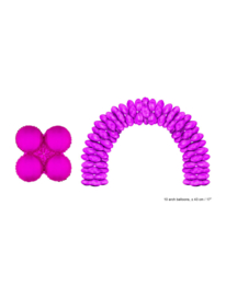 Folieballon paars rond voor boog 10 stuks