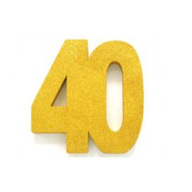 Tafel decoratie goud 40