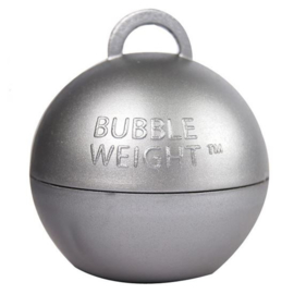 Ballongewicht bubble zilver