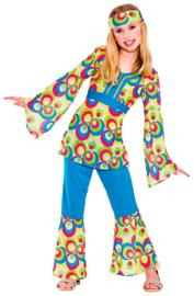 Retro hippie meisjes kostuum