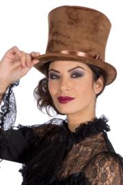 Hoge hoed Velvet XL | bruin