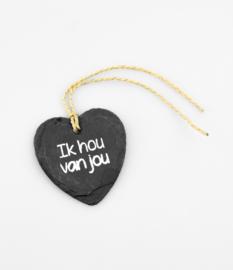 Natuursteen hart ik hou van jou