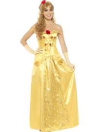 Princess gold lange jurk