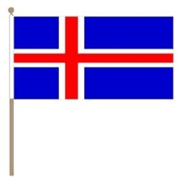 Zwaai vlaggetje Ijsland