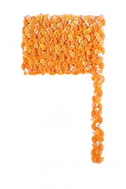 Paillettenband golvend oranje 3m