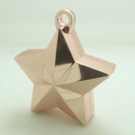 Star ballongewicht metallic rose gold