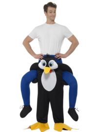Gedragen pinguin kostuum