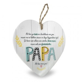 Houten hart baby,  Papa