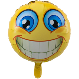 Lachende smiley folieballon