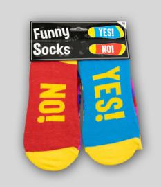 Sokken Yes No fun