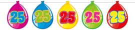 Vlaggenlijn ballonnen 25 jaar