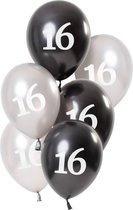 Ballonnen Glossy Black 16 Jaar