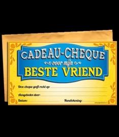 Cadeau cheque beste vriend