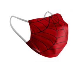 Kinder Mondkapje met spinnenweb | spiderman print | wasbaar