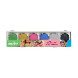 Waterschmink glans palet 6 kleuren