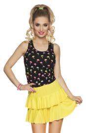 Mini rok neon geel