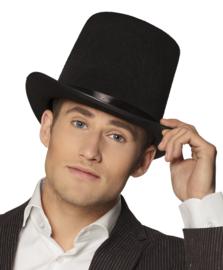 Hoge hoed zwart extra