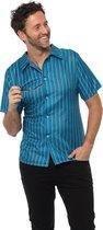 Retro 70's shirt Blauw