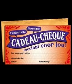 Cadeau cheque speciaal voor jou