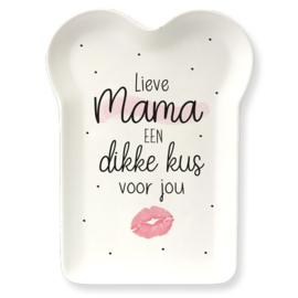 Bamboe Bordje - Mama kus | cadeautje