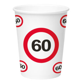 Bekertjes 60 jaar traffic sign