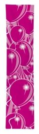 Feest banner hotpink 300x60cm