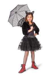 Petticoat meisje | glitter zwart