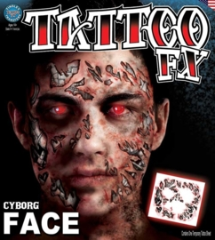 Face Tattoo cyborg