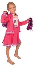 Cheerleader pink jurkje