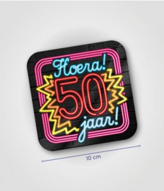 Neon onderzetters 50 jaar